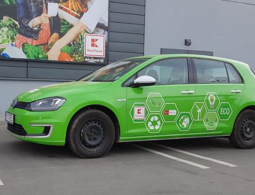 Kaufland aduce prima mașină electrică într-un campionat național de raliu
