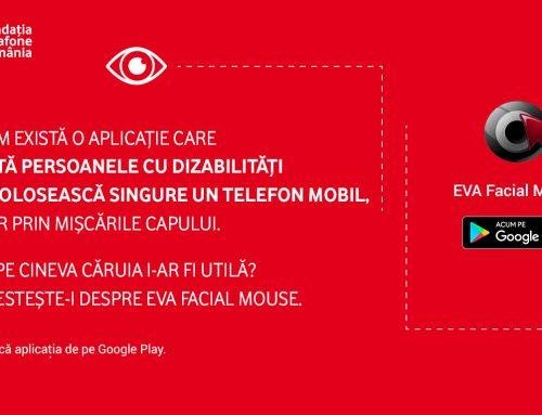 Fundația Vodafone România lansează EVA Facial Mouse