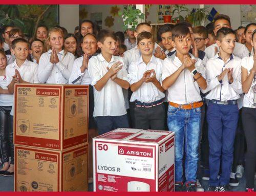 Ariston România a donat 400 de boilere în 32 de județe
